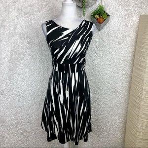Calvin Klein Brushstroke Fit & Flare Dress 4